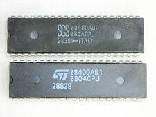 """Z80ACPU  """"Original"""" ST 40P DIP CPU  IC  2  pcs"""