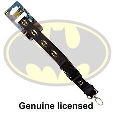 Genuine Licensed DC Comics Batman Lanyard w Quick Release Badge Keychain Holder