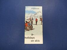 International Swiss Travel Brochure, Skiing, Swissair, Holidays on Skis, S642