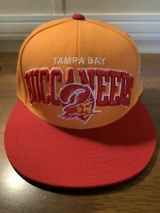 RETRO TAMPA BAY BUCCANEERS MITCHELL & NESS ORANGE CREAMSICLE FITTED HAT 7 1/8