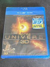 NOTRE UNIVERS 3D BLURAY 3D + BLURAY 3D LB FILMS UNIVERSAL FRANCE NEUF