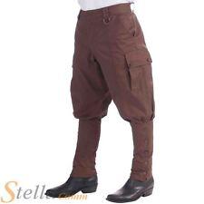 Hombre Steampunk Pantalones Disfraz Traje Victoriano Marrón