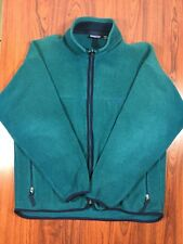 Patagonia Teal Blue Men's XL Fleece Full-Zip Spring Jacket Coat Rare Vintage