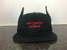 Vintage 1997 BATMAN & ROBIN Warner Bros Studio Bat Ears Cap Hat SnapBack