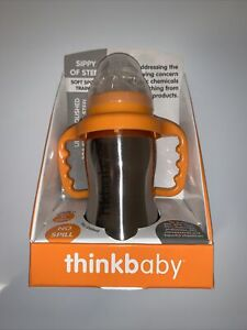 Thinkbaby Orange Sippy Of Steel Soft Spout Trainer 9 oz  260ml - NEW IN PACKAGE