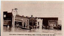 1937  --  UNE STATION D ESSENCE INONDEE A HARRISBURG  ILLINOIS   3K390