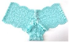 NWT* Victoria's Secret BODY BY VICTORIA Lace Up Crochet SHORTIE--Turquoise--L/G