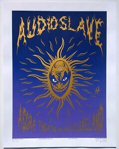 Audioslave Concert Poster 2005 Justin Hampton A/P Cleveland