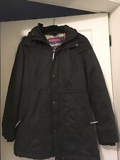 LADIES SUPERDRY MICROFIBRE THE TALL PARKA JACKET