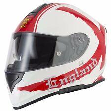 VCAN V127 Full Face Motorcycle / Motorbike Helmet - England M