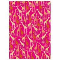 Giraffe Pink Luxury Gift Wrap Sheet Wrapping Paper & Tag Sara Miller