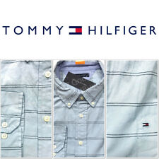 Men's Tommy Hilfiger Classic Fit Long Sleeves Dress Shirt Blue Navy Stripe NWT