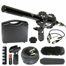 Nikon D500 Camera External Microphone Vidpro XM-55 13-Piece Vidoe Microphone Kit