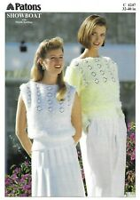"""Patons Showboat Knitting Pattern 4247, with DK, Top and Jumper 32"""" - 40"""""""