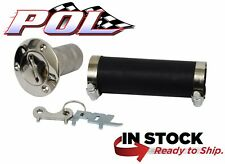 1967-72 CHEVY & GMC TRUCK GAS FUEL FILLER & HOSE KIT - POLISHED STAINLESS STEEL