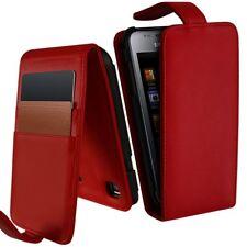 Housse Etui Portefeuille pour Samsung Galaxy S i9000 couleur Rouge