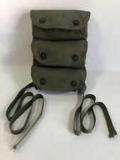 WWII US Army Canvas 3-Pocket Grenade Carrier Vintage with KliKit Pull Snaps