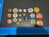 RARE Vtg Estate Lot Political President Campaign Button Pins WALLACE, NIXON,
