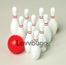 Mini Bowling Set for American Girl & Wellie Wisher Doll Accessory Found Lovvbugg