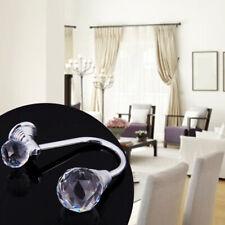 2PCS Crystal Curtain Hold Holder Clothes Tiebacks Hook Tassel Wall Mounted N7Z