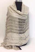 NEW Fashion Women/Men's Solid Cotton Linen Scarf Shawl Stole Wrap PASHMINA Beige