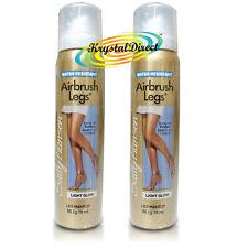 2x Sally Hansen Airbrush Air Brush Legs Spray LIGHT GLOW 75ml