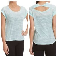 NEW Women's Balance Collection Kimmy Burnout Twist Tee Top Mint Eclipse MSRP $45