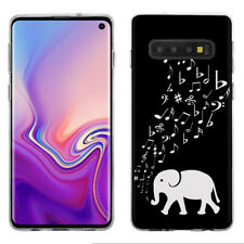 TPU Phone Case for Samsung Galaxy S10 - Elephant Music