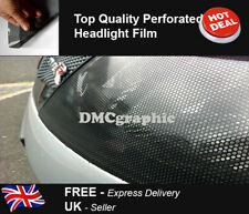 70x106cm Perforated CAR Window Fly Eye Headlight Film Mesh One Way Vision Wrap