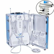 Portable Dental Delivery Unit With Air Compressor Nsk Handpiece Kit 4 Hole Ce