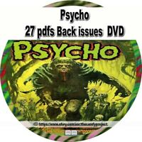 27 pdfs Psycho Magazine science fiction and fantasy film magazine DVD
