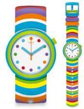 Swatch POP popadelic Watch PNL100 Analogue Silicone Multicolour