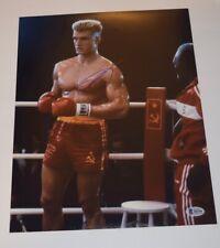 Dolph Lundgren Signed Autographed 11x14 Photo ROCKY IV Ivan Drago Beckett COA