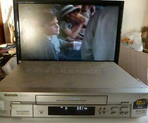 Panasonic NV-FJ600 VHS VCR Video Cassette Recorder with remote.