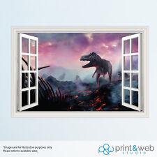 DInosaur T Rex 3D Window View Decal Wall Sticker Home Decor Art Mural