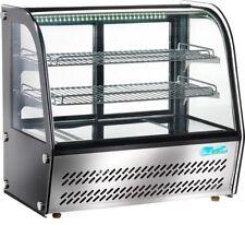 Vetrina refrigerata ventilata inox professionali LUCI LED vetro curvo VPR120