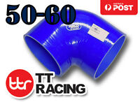 """3-ply 50mm - 60mm (2"""" - 2.375"""") Silicone 90 Degree Elbow Reducer Hose Samco"""
