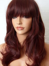 Red Brown Wig Fashion medium natural look hair wig party Ladies Lady Wig F18