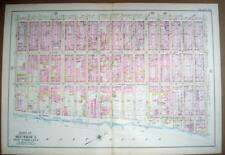 NYC Map, MidTown East Side 1902, Antique Wall Map, 2nd Ave to East River #29