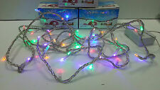 Guirnalda Cordon 50 led de colores, 4,25 metros, Luces multicolor Arbol Navidad