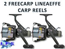 2 x NEW FREE CARP 60 LINEAEFFE CARP FISHING REELS + LINE 3BB FREE RUNNER REEL