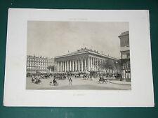 Lithographie Ph. BENOIST La Bourse Paris dans sa splendeur 1857