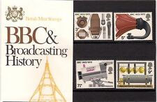 GB 1972 BBC & Broadcasting History Presentation Pack 43 TYPE 2 Marconi Radio TV