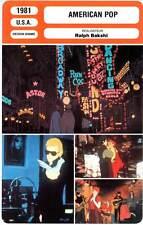 AMERICAN POP - Ralph Bakshi (Fiche Cinéma) 1981