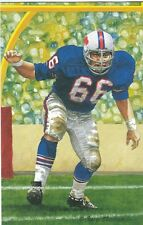 Billy Shaw Buffalo Bills unsigned Goal Line Art Card in Toploader