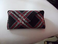 Vera Bradley large hard eyeglass case with flap and snap closure in Minsk Plaid