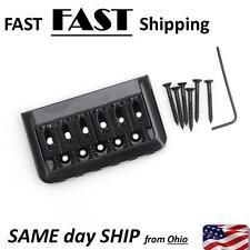 6 String Electric Guitar Bridge Hard Tail Top Load Black Fixed Hard Tail Parts