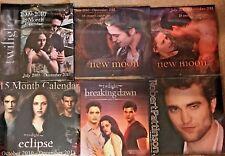 Twilight New Moon Eclipse Breaking Dawn Robert Pattinson Calendar NEW you choose