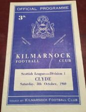 Away Teams C-E Clyde Scottish Cups Football Programmes