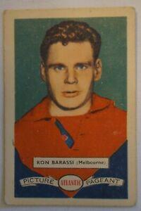 Melbourne Demons AFL-VFL 1958 Vintage Atlantic Football Card Ron Barassi